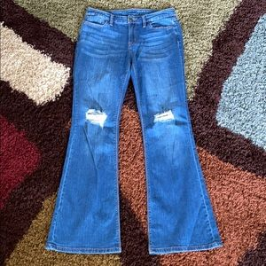 High Waist Flare Factory Distressed Limited Jeans